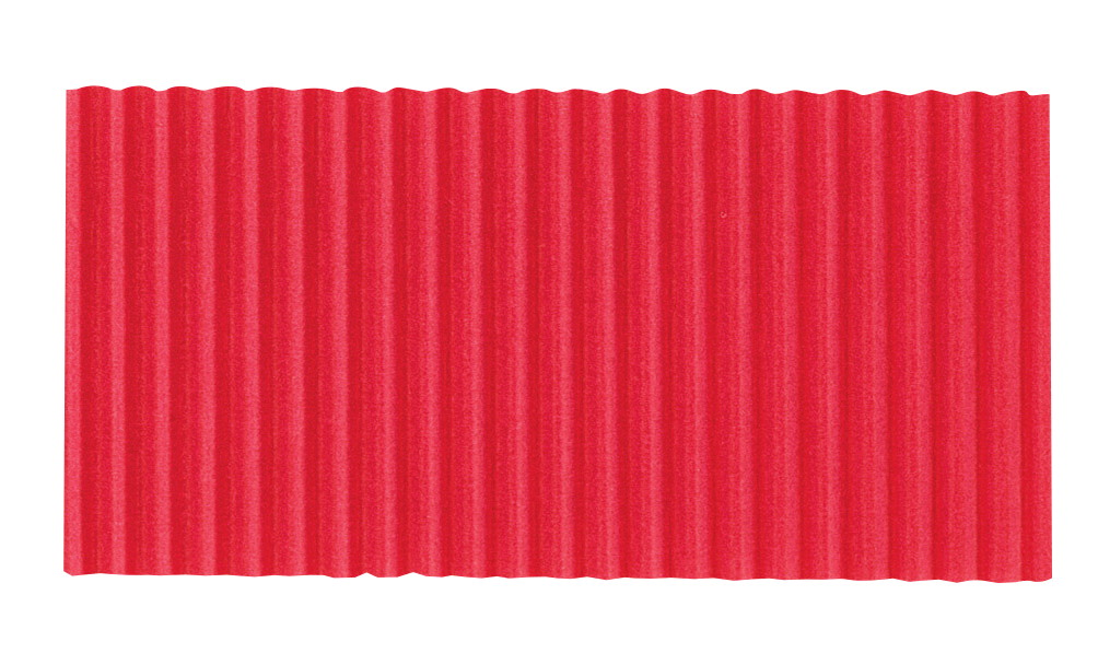 Corobuff Solid Color Corrugated Paper Roll, 48 Inches x 25 Feet, Flame Red