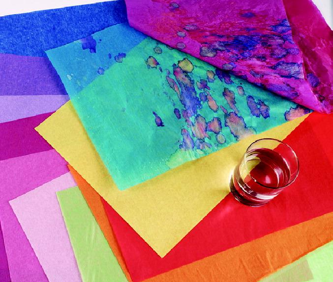 Spectra Deluxe Bleeding Tissue Paper, 12 x 18 Inches, Assort