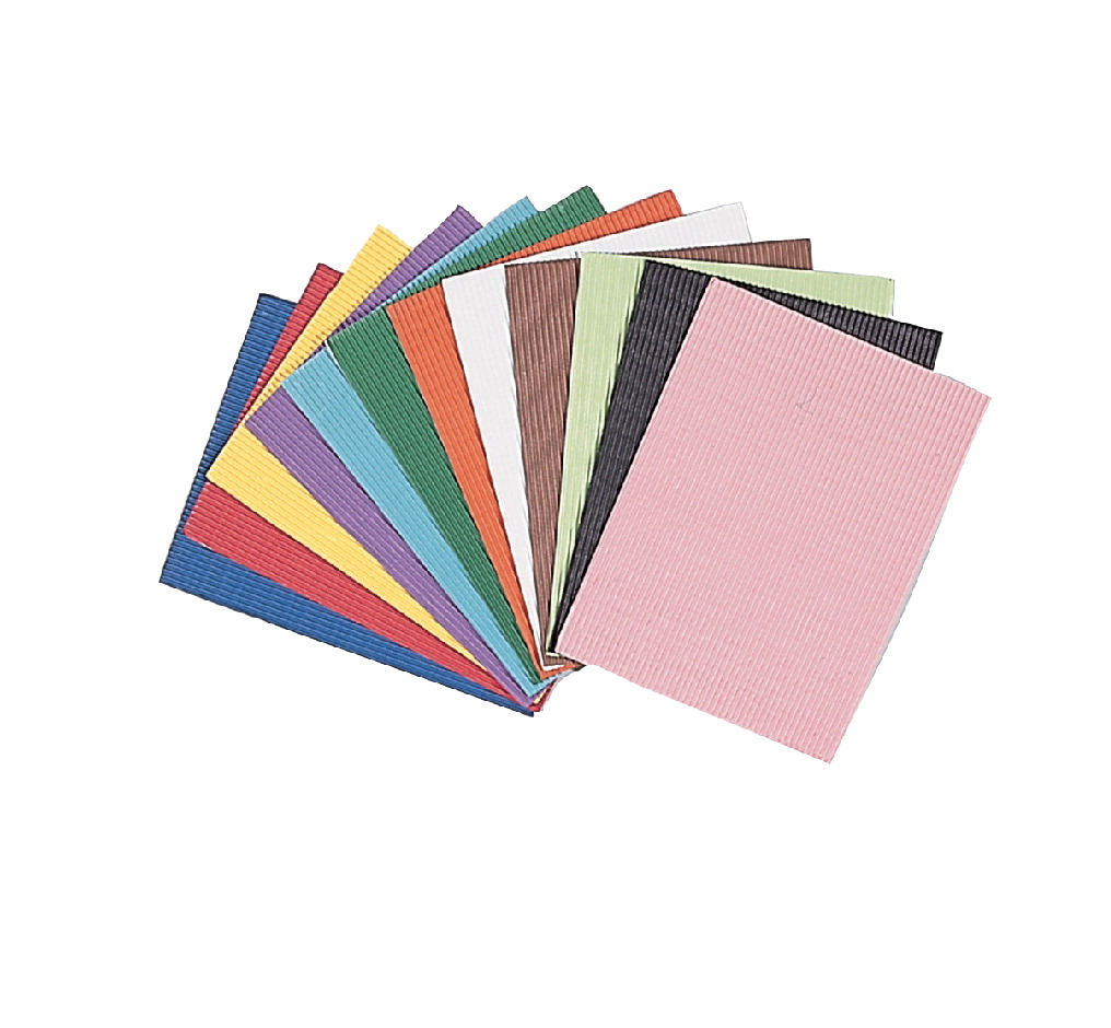 Corobuff Corrugated Art Paper, 12 x 16 Inches, Assorted Colors, 12 Sheets