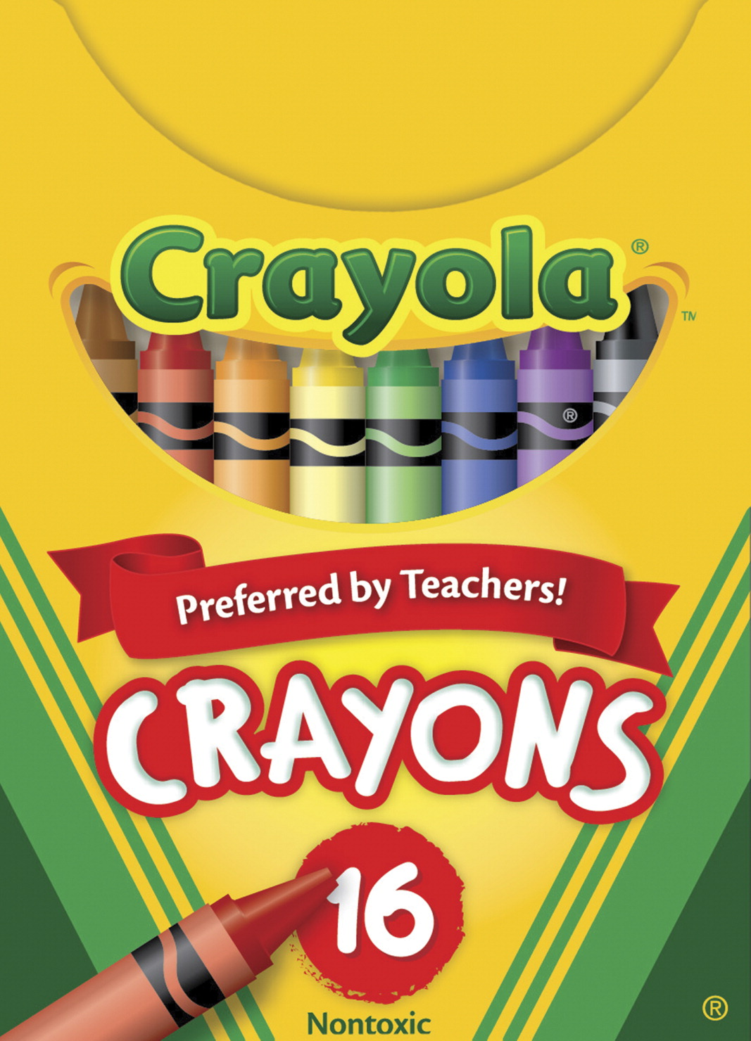 Crayola Standard Size Crayons in Tuck Box, Assorted Colors, Set of 16