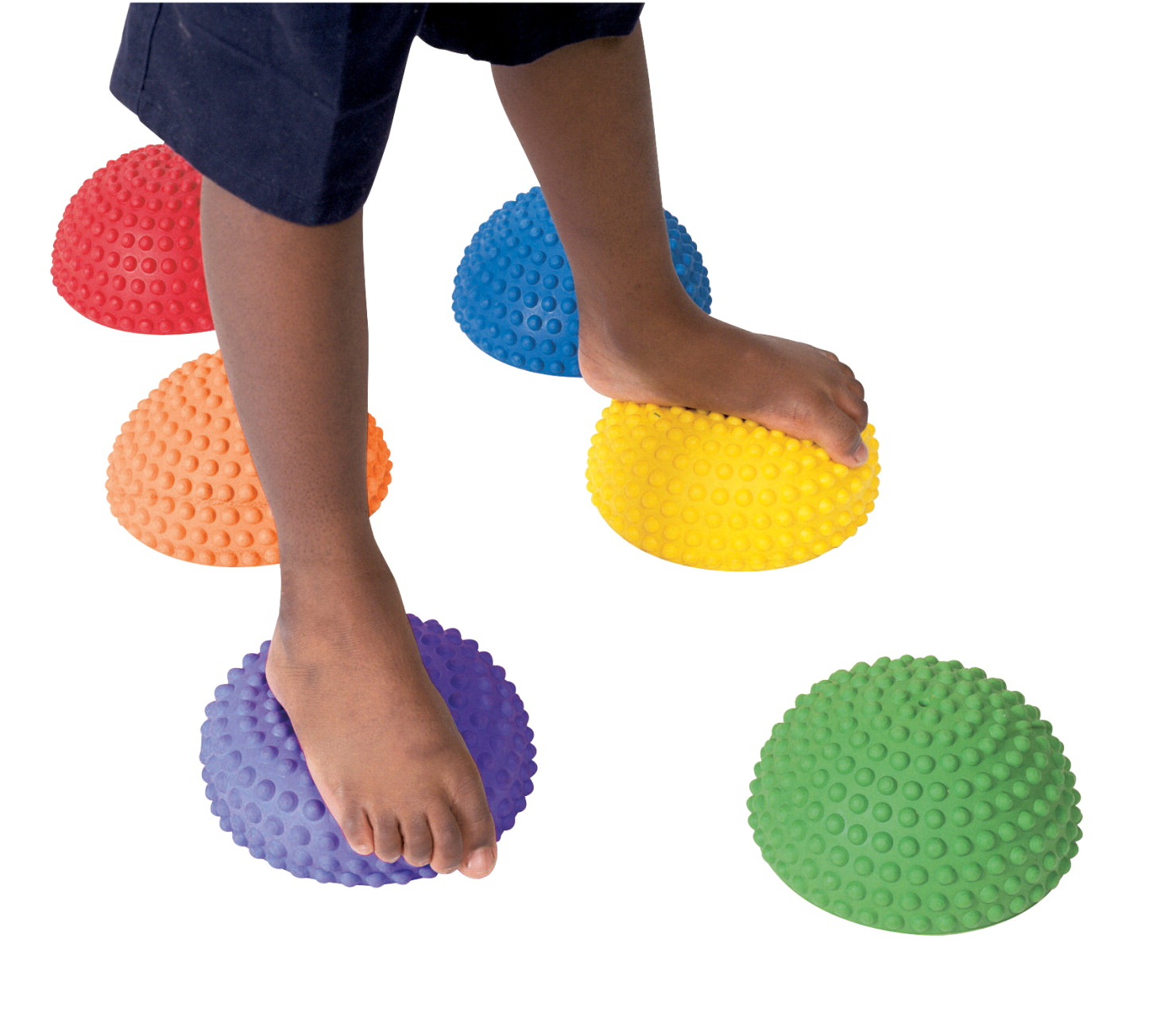 Abilitations Tactile Step-N-Stones, Set of 6