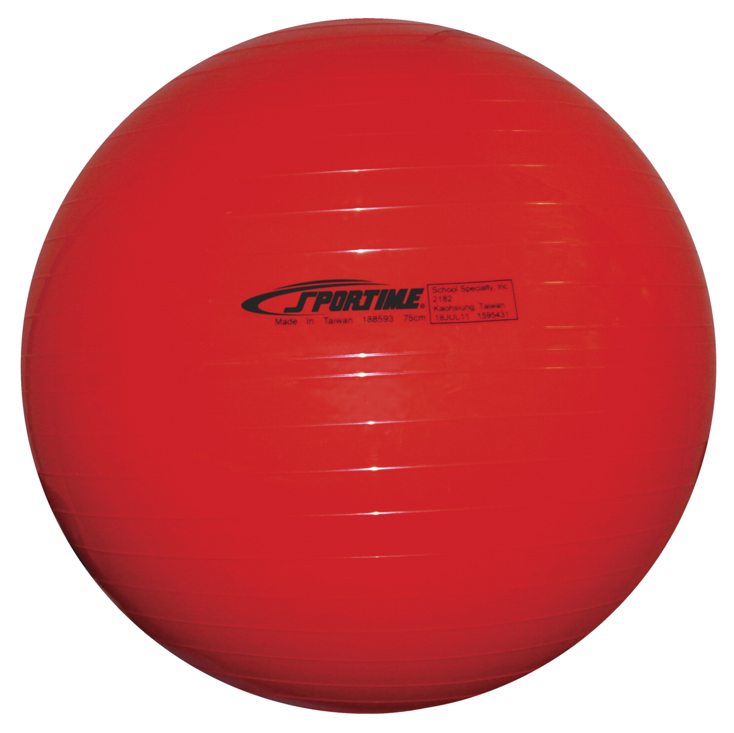 Sportime Economy Play and Exercise Ball, 29-1/2 Inches, Red