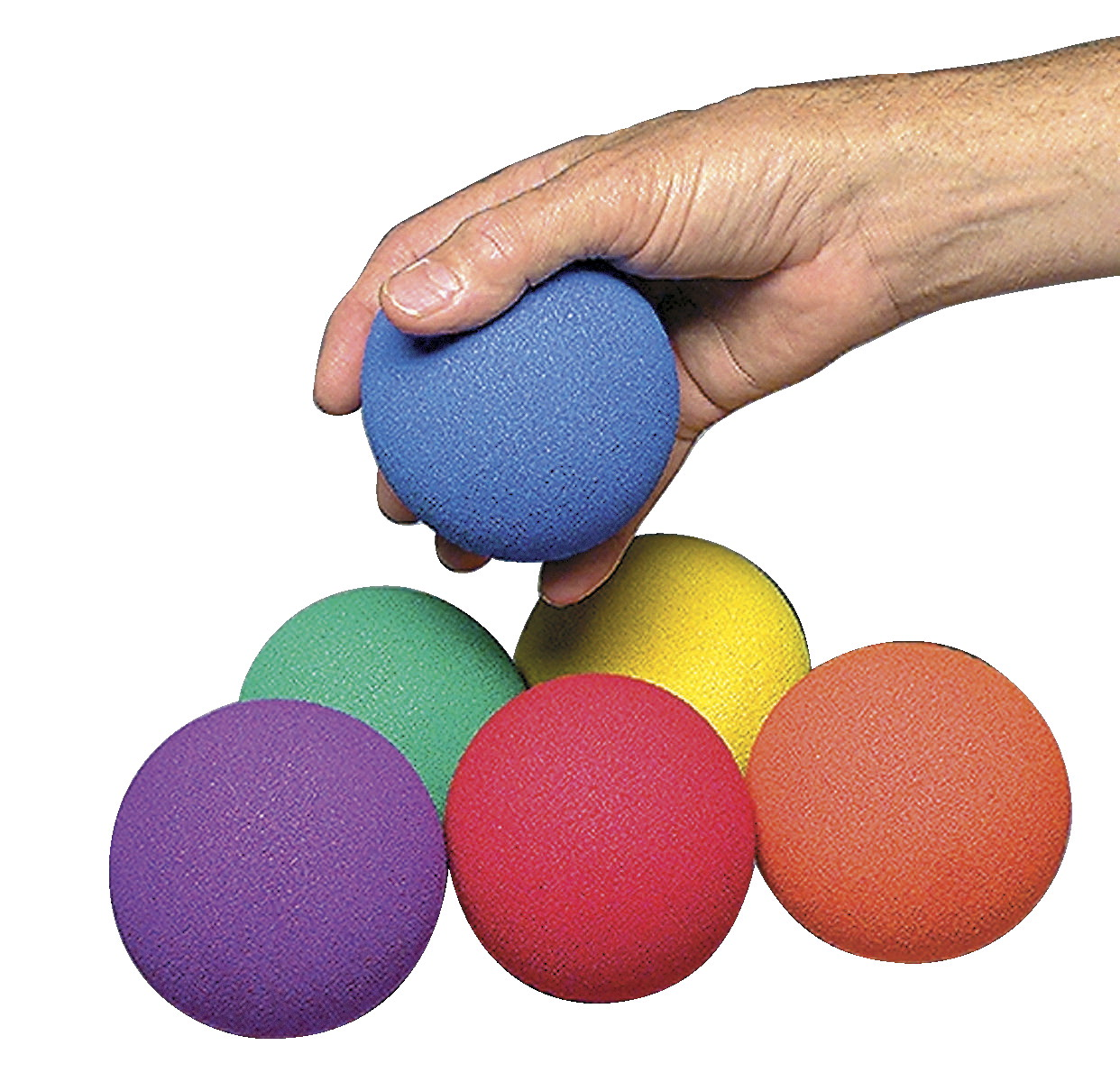 Sportime UltraFoam NoBounceBalls, 3-1/2 Inches, Assorted Colors, Set of 6