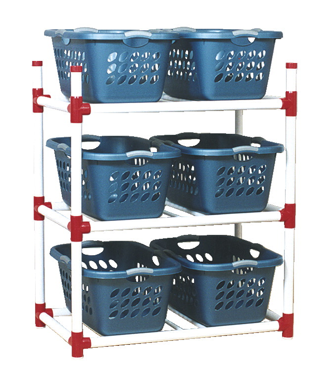 Duracart Basket Rack with 6 Baskets, 41 x 24 x 52 Inches