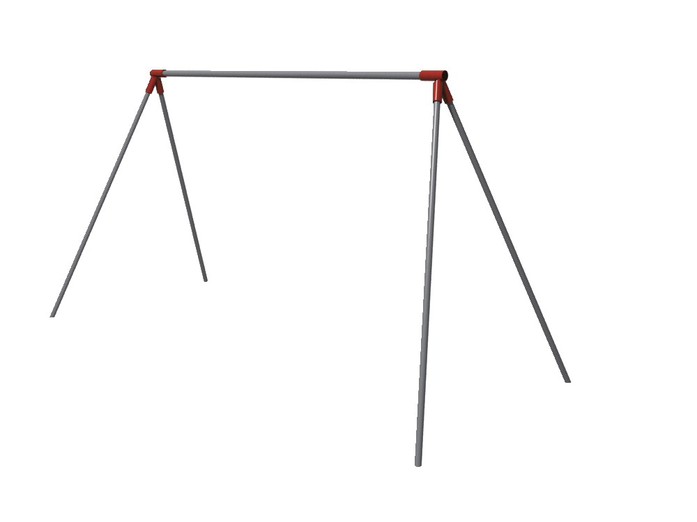Primary Biopd Swing Frame and Hangers Only, 2-2/8 Inch Top Rail