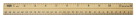 School Smart Double Beveled Wood Ruler,  Pack of 12