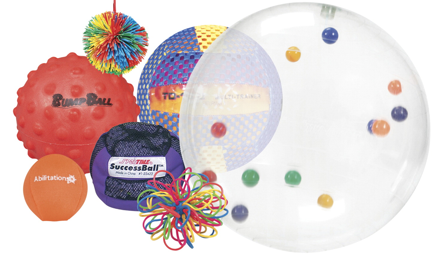 Abilitations Sensory Ball Pack, Set of 7