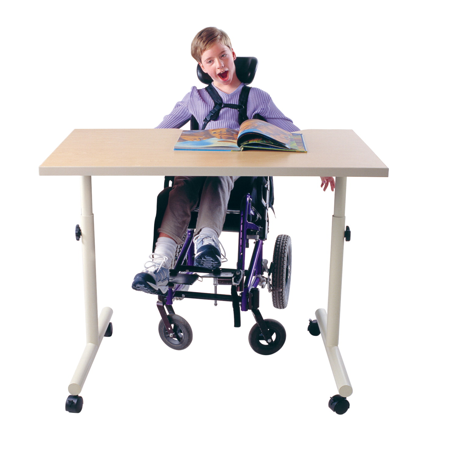 School Specialty Wheelchair Accessible Adjule Height Desk With Fixed Top 36 X 30 23