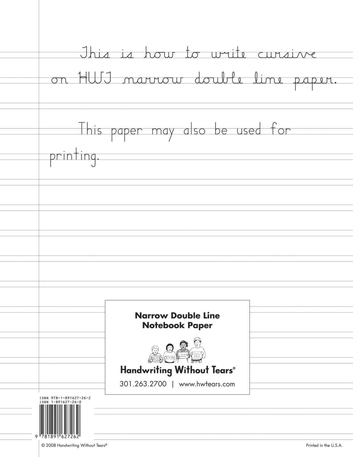 handwriting without tears paper
