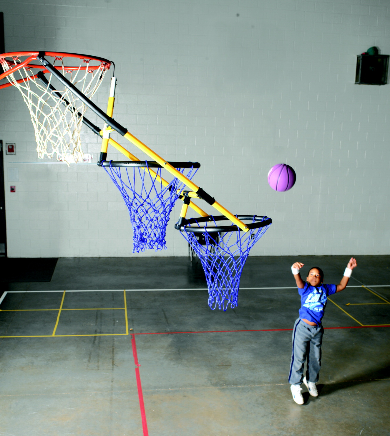 Sportime Tierdrop Two-Hoop Basketball Goal Nets, 18 Inches