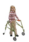 Drive Medical Nimbo Lightweight Gait Trainer, 19 to 25 in, Aluminum, Lime Green, Junior