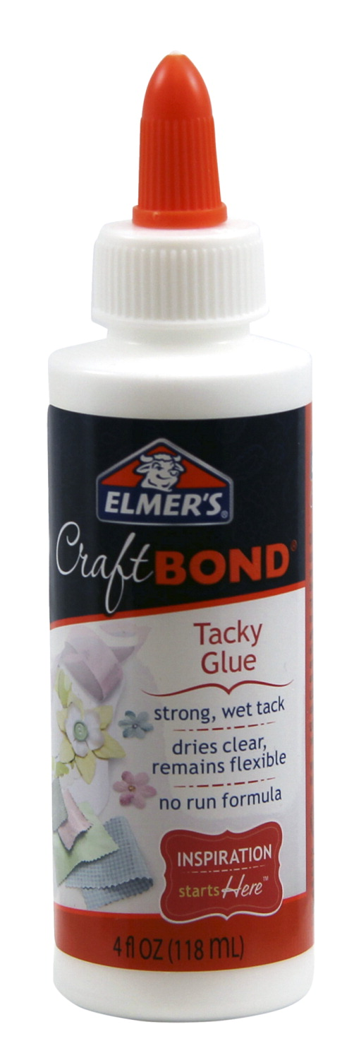 Elmer's CraftBond Flexible Non-Toxic Tacky Glue, 4 oz Bottle, Dries Crystal Clear