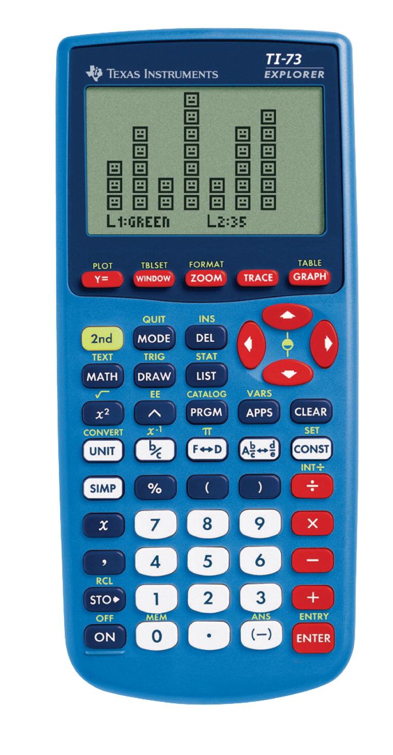 Texas Instruments Graphing Calculator, Blue - SCHOOL