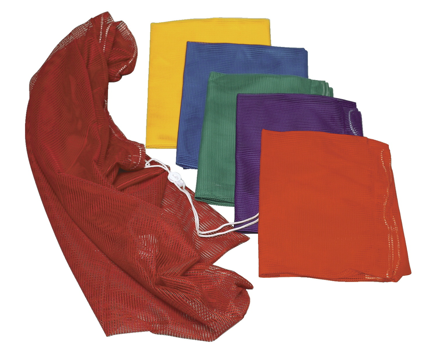 Sportime Heavy-Duty Mesh Storage Bags, 24 x 36 Inches, Assorted Colors, Set of 6