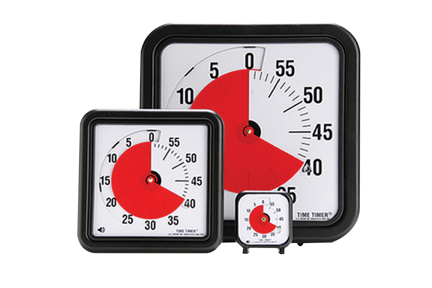 Time Timer Audible Countdown Timer Black Classroom Direct