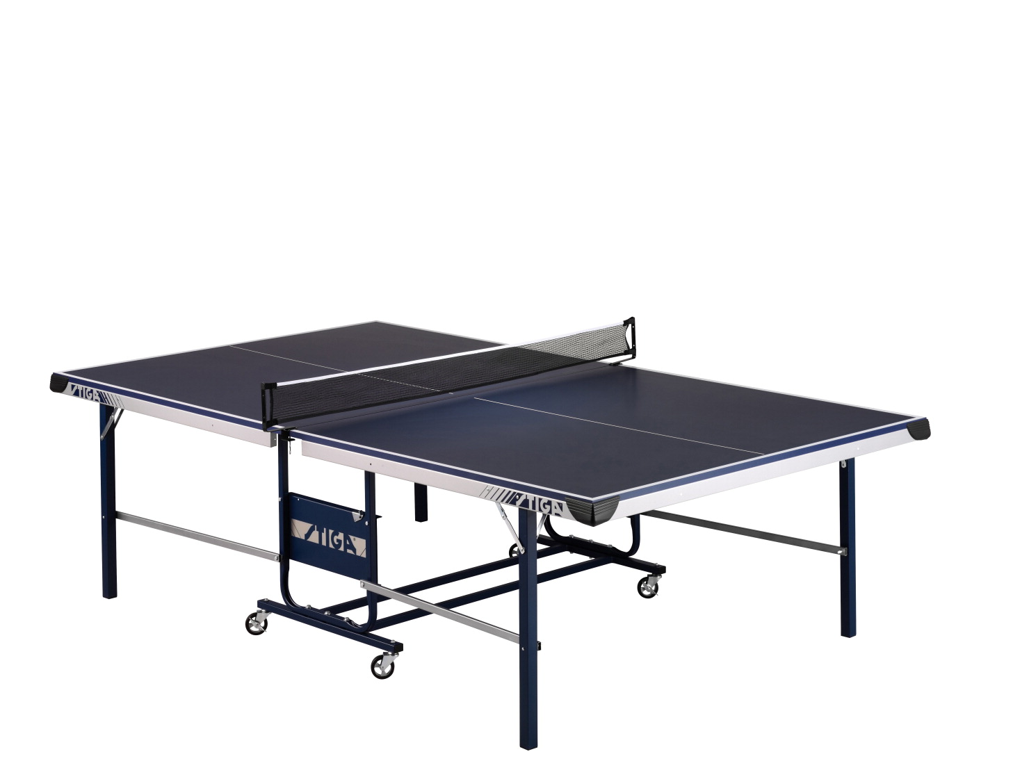 Stiga STS 175 Table Tennis with Net and Posts, Blue