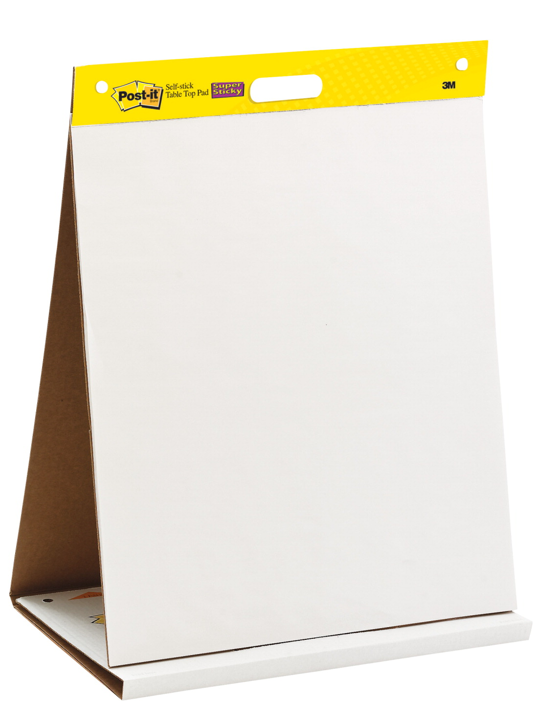 Post-it Self-Stick Easel Pad, 20 x 23 Inches, Unruled, White, 20 Sheets