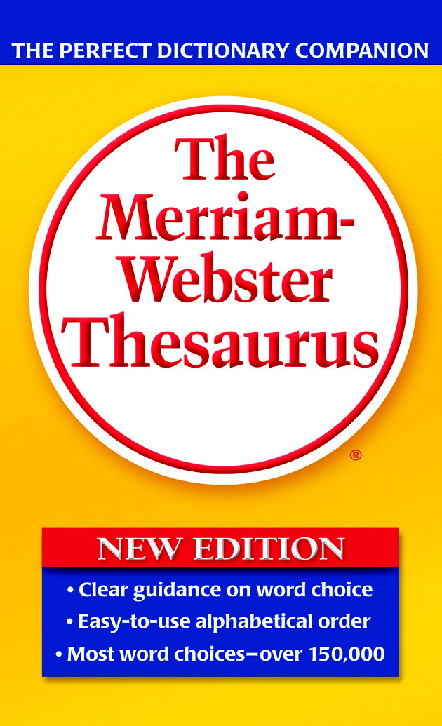 Merriam-Webster Thesaurus Paperback Book, Grades 7 to 12, 688 Pages