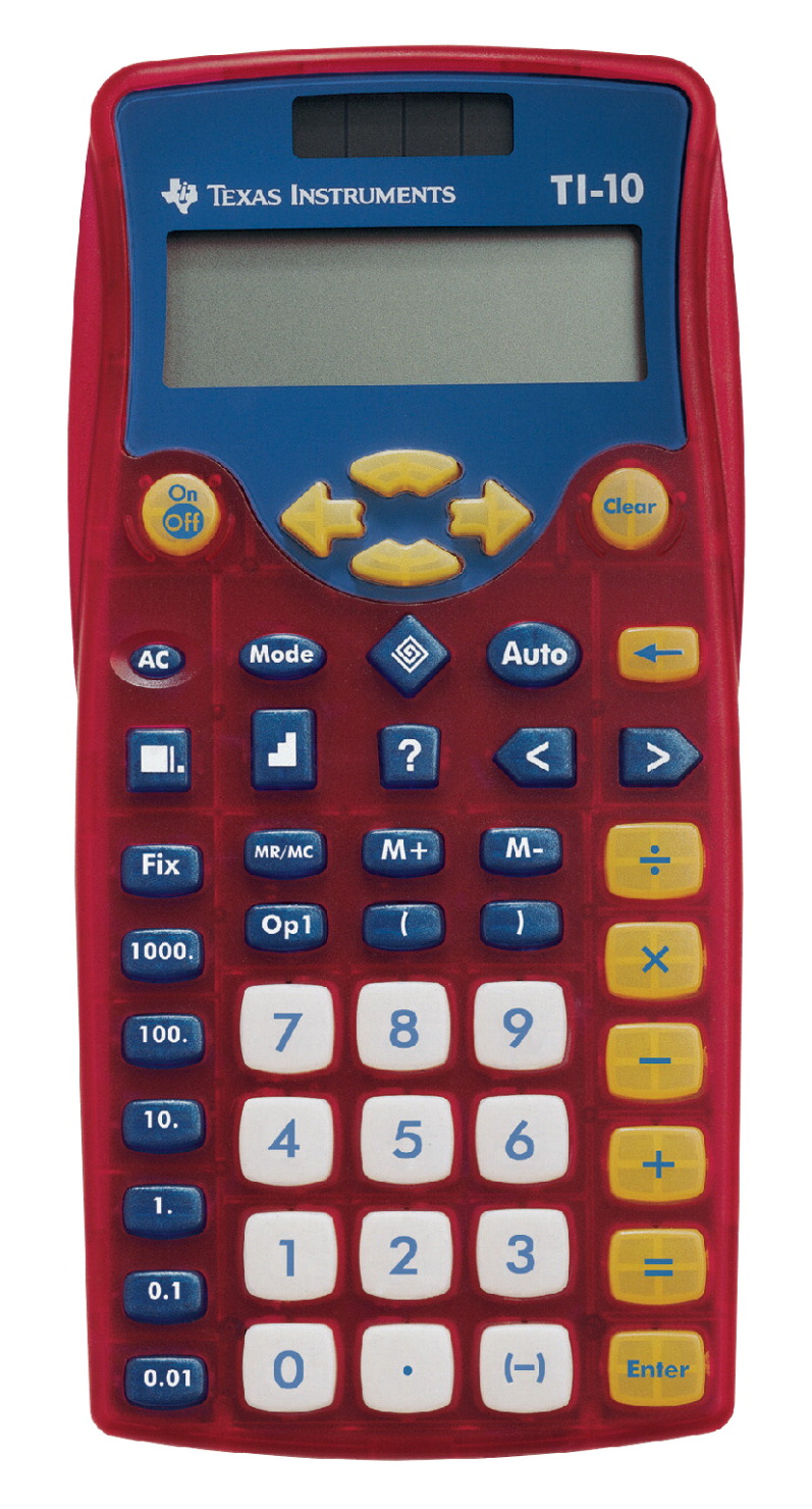 Texas Instruments Ti 10 Elementary Calculator Blue Red