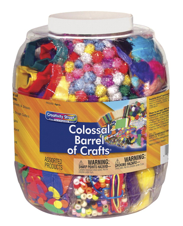 Creativity Street Colossal Barrel of Crafts Craft Item, Assorted Color