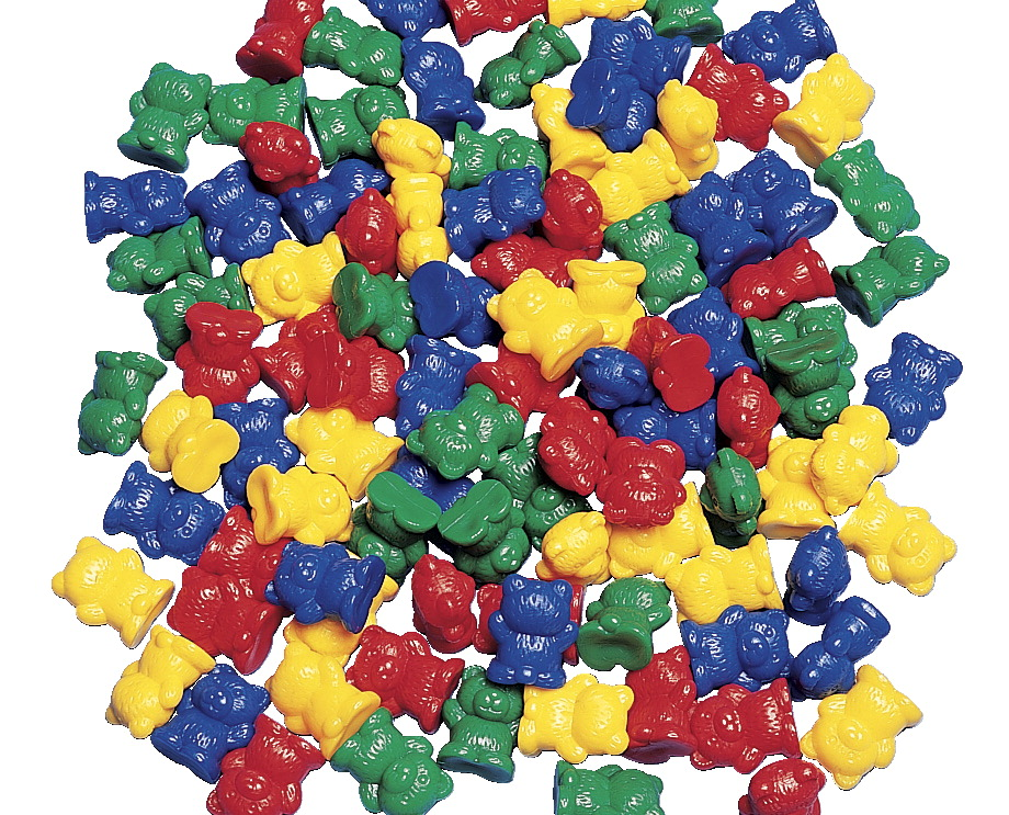 Childcraft Small Bear Counters Assorted Colors Set Of 100 School Specialty Marketplace