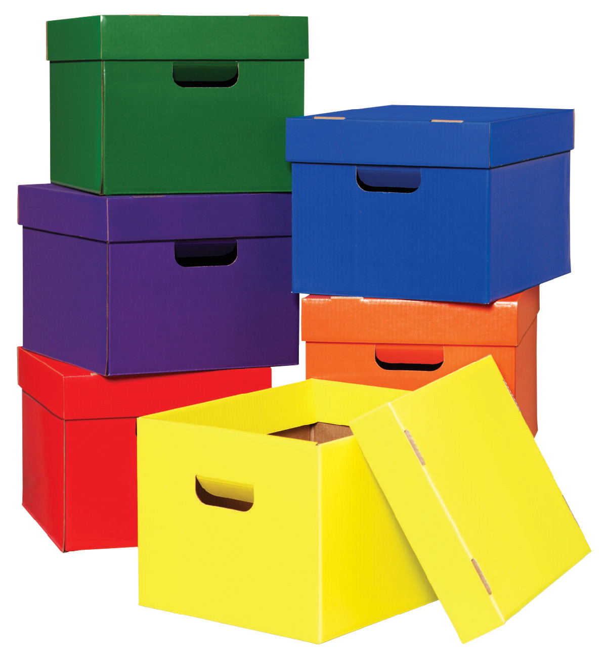 Classroom Keeper Storage Tote, 10 x 12 x 15 Inches, Assorted Color, Pack of 6
