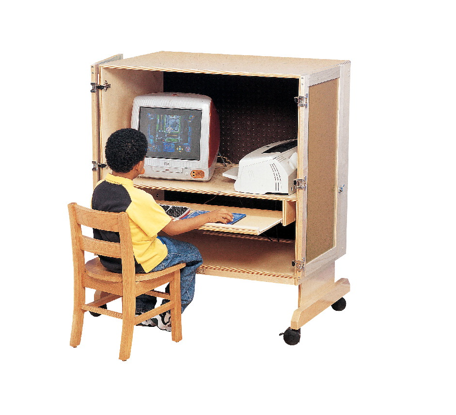 Childcraft Computer Workstation, 37-1/4 W x 24 D x 28-3/4 H in