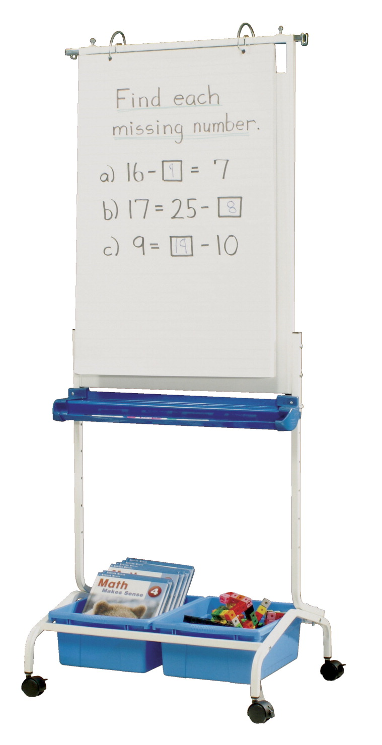 chart stand with wheels: Copernicus deluxe chart stand blue white classroom direct
