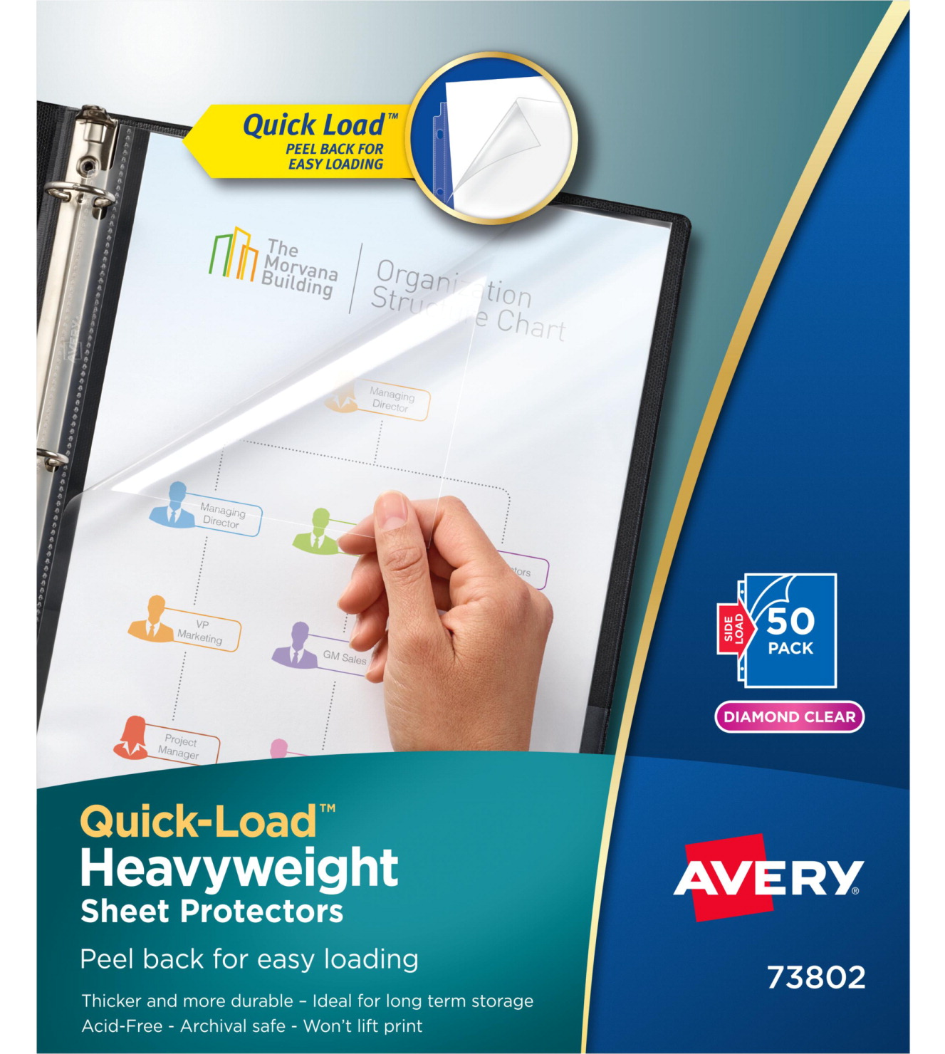 Avery Top Loading Sheet Protectors Clear School