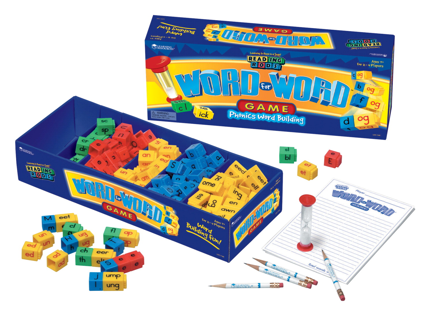 Learning Resources Reading Rods Word For Word Phonics Game