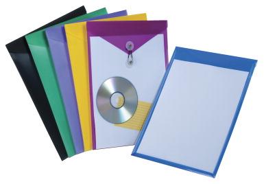 Letter Size Pendaflex Poly Snap Envelope Grape