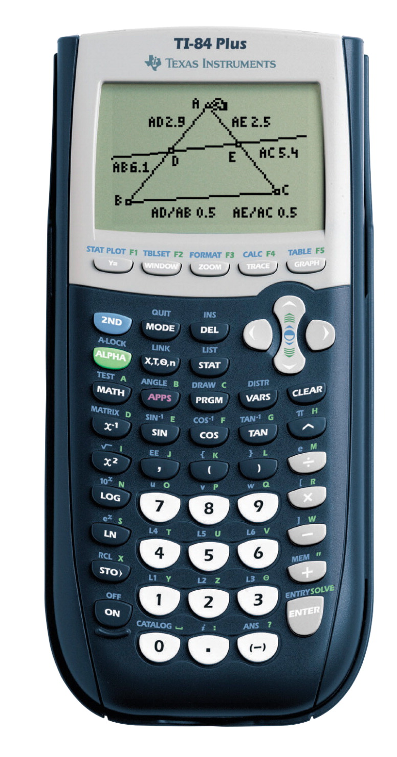 Texas Instruments TI-84 Plus Graphing Calculator, Calculus, Statistics, Finance, 3-1/3 in W X 9/10 in D X 7-1/2 in H