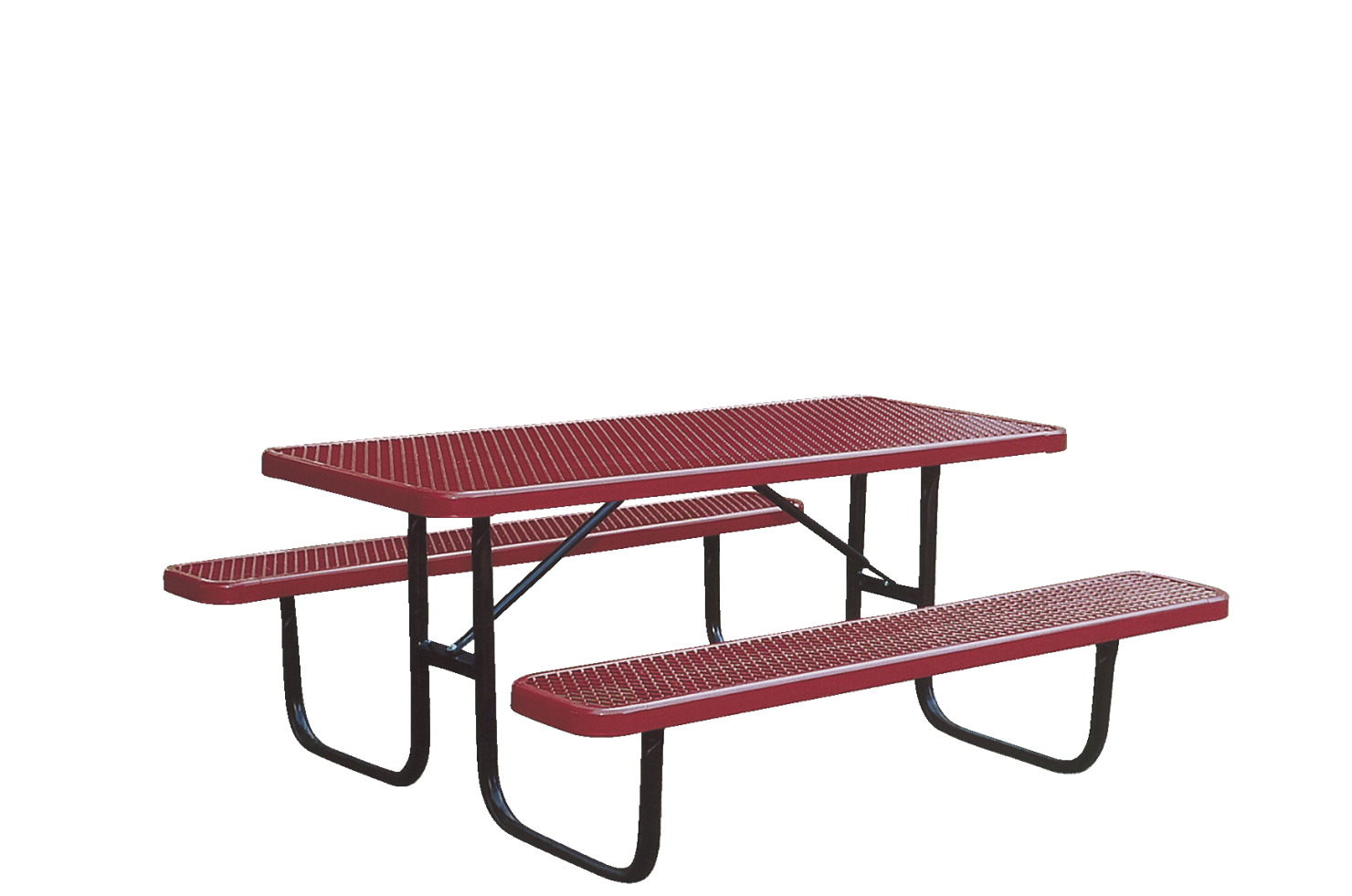 UltraSite UltraCoat Thermoplastic Picnic Table with Benches, 72 x 64 x 30 Inches, Various Options