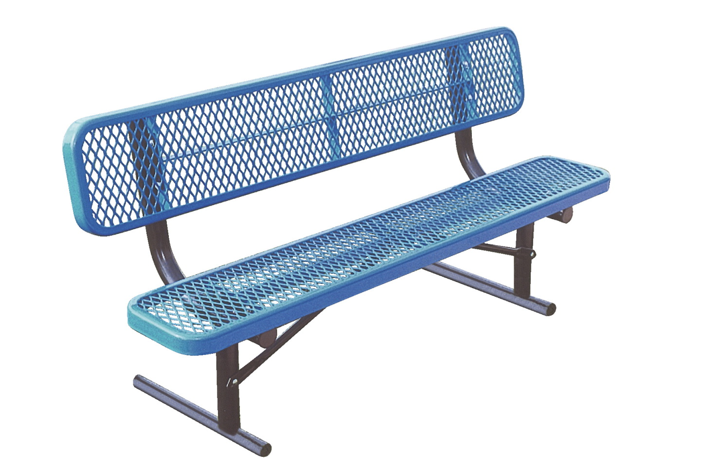 UltraSite UltraCoat Thermoplastic Bench with Back, Diamond Pattern, 72 x 22-1/4 x 3 Inches, Various Options