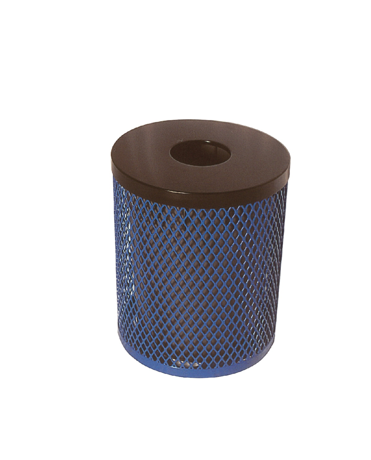 UltraSite UltraCoat Thermoplastic Trash Receptacle, Diamond Pattern, 32 Gallons, Various Options