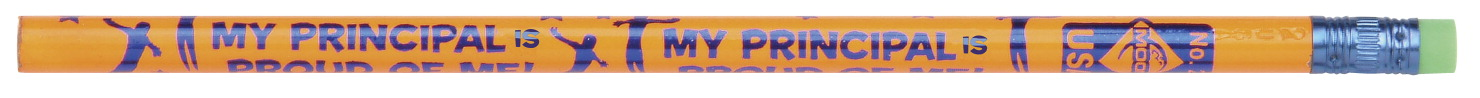 Moon Products My Principal is Proud of Me Pencils, Assorted Colors, Pack of 12