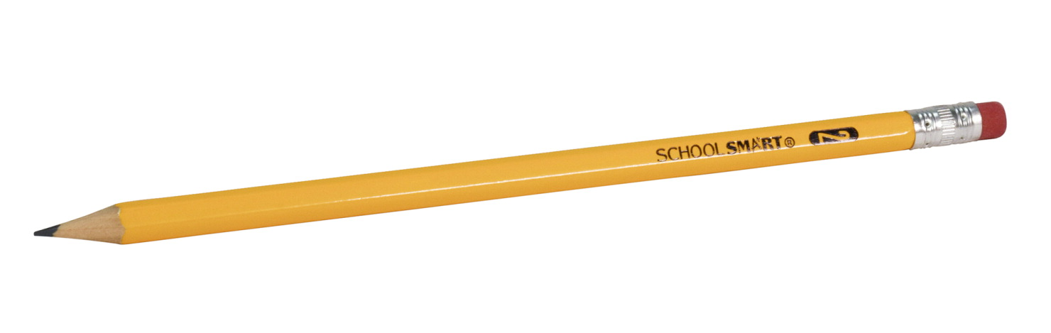 School Smart Hexagonal No. 2 Pre-Sharpened Pencil with Latex-Free Eraser, Pack of 12