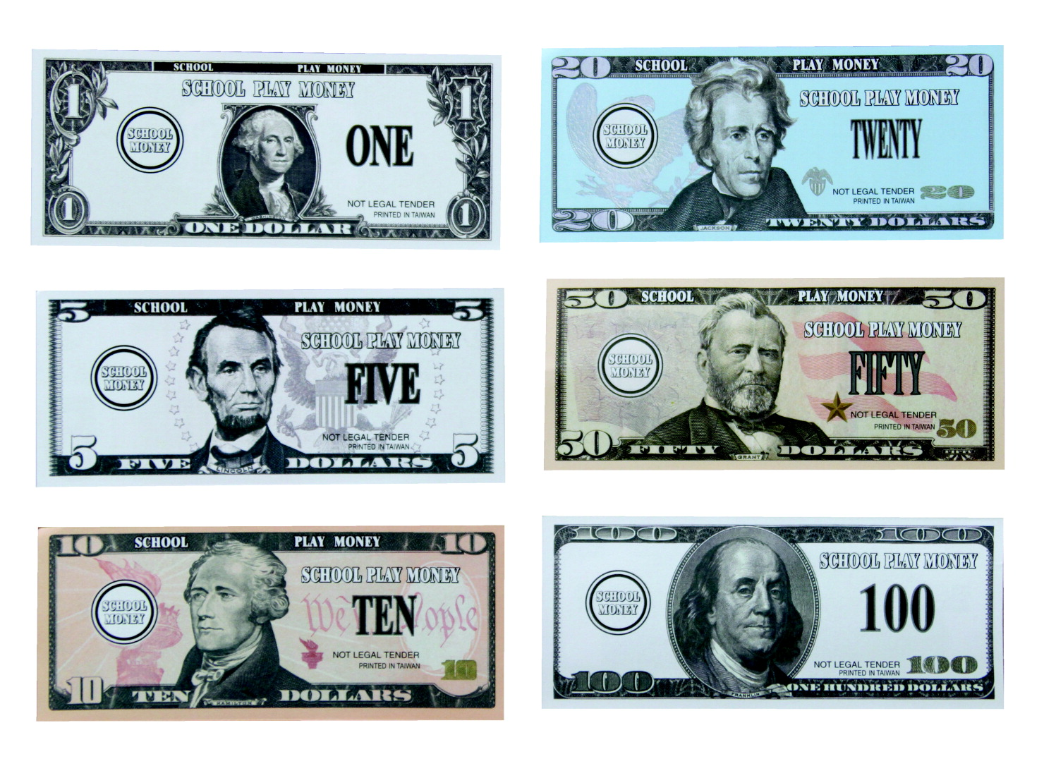 Paper Coins and Paper Money for Money Counting Lessons ... |Pretend Money For Classrooms