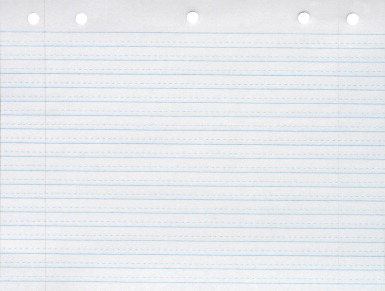 School Smart Cursive Ruled Notebook Paper White 500