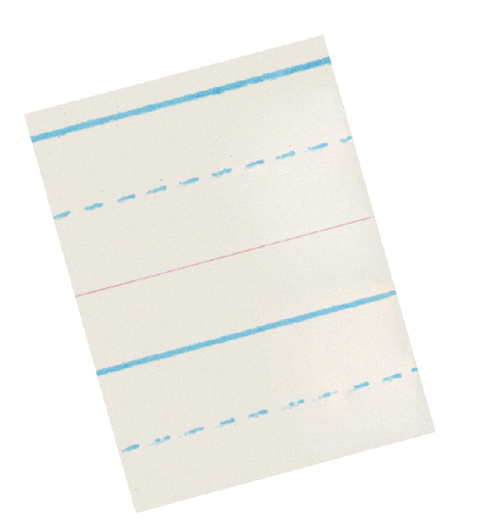 School Smart Zaner-Bloser Paper, 7/8 Inch Rule, 10-1/2 x 8 Inches, 500 Sheets
