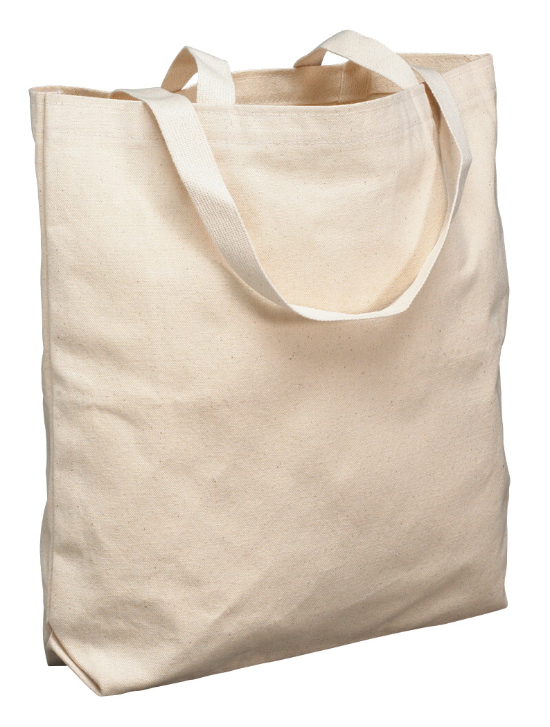 School Smart Canvas Tote Bag, Large, 16-3/4 x 17-1/2 x 5 Inches, Natural