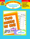 Vocabulary Games, Activities, Books Supplies, Item Number 088832