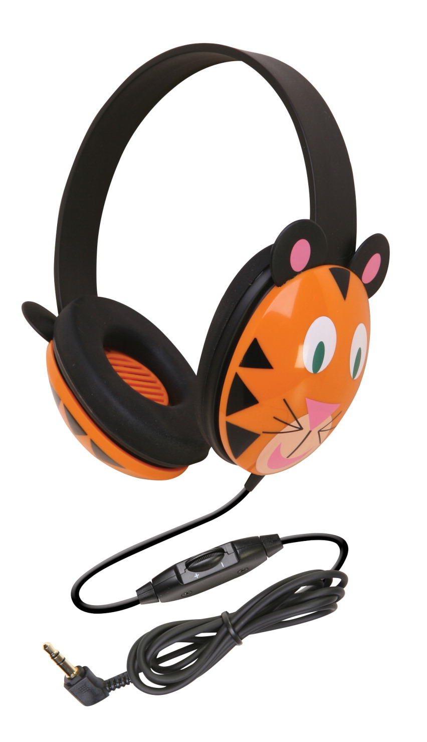 Califone 2810-TI Listening First Kids Tiger Theme Wired Headphones