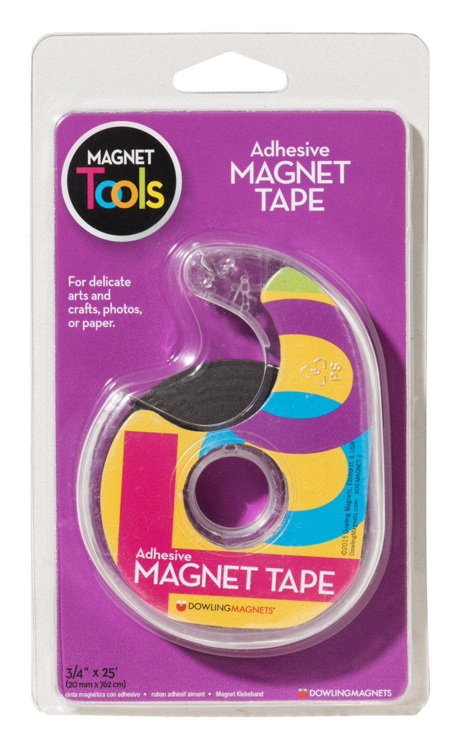 Dowling magnets adhesive extra thin magnetic tape with for Thin magnets for crafts