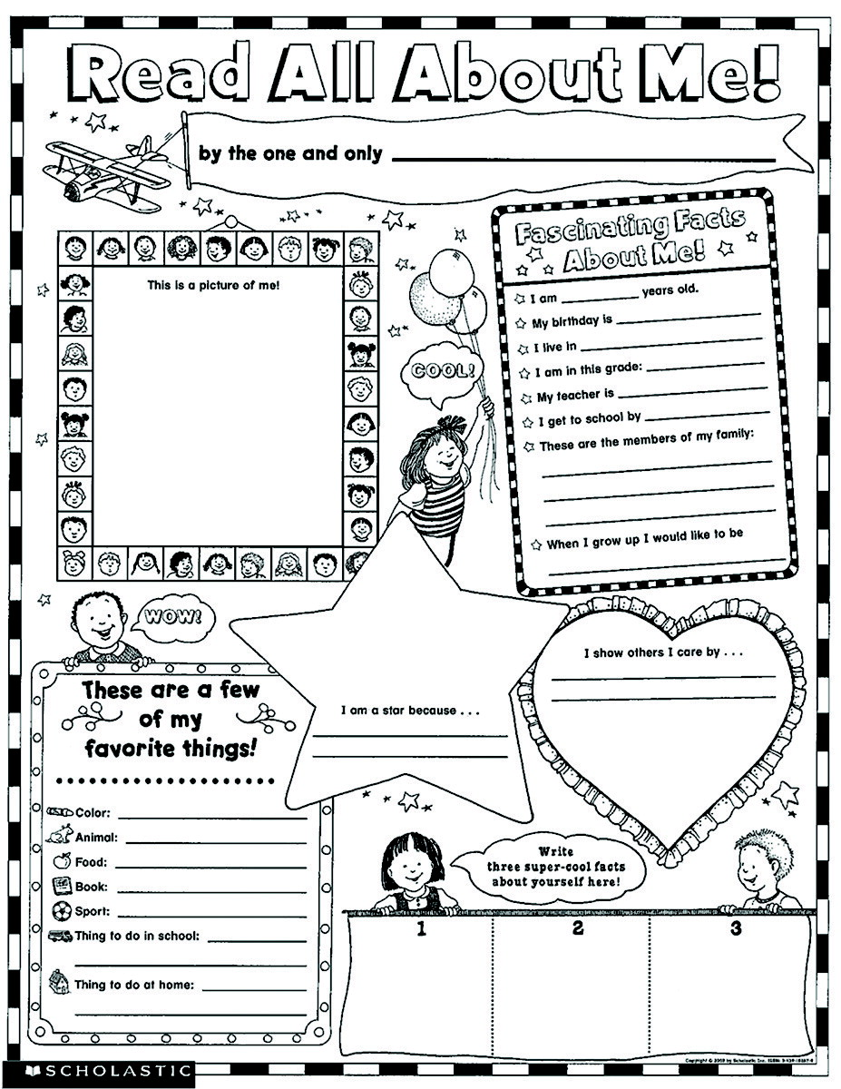 Scholastic Read All About Me Instant Personal Poster Sets