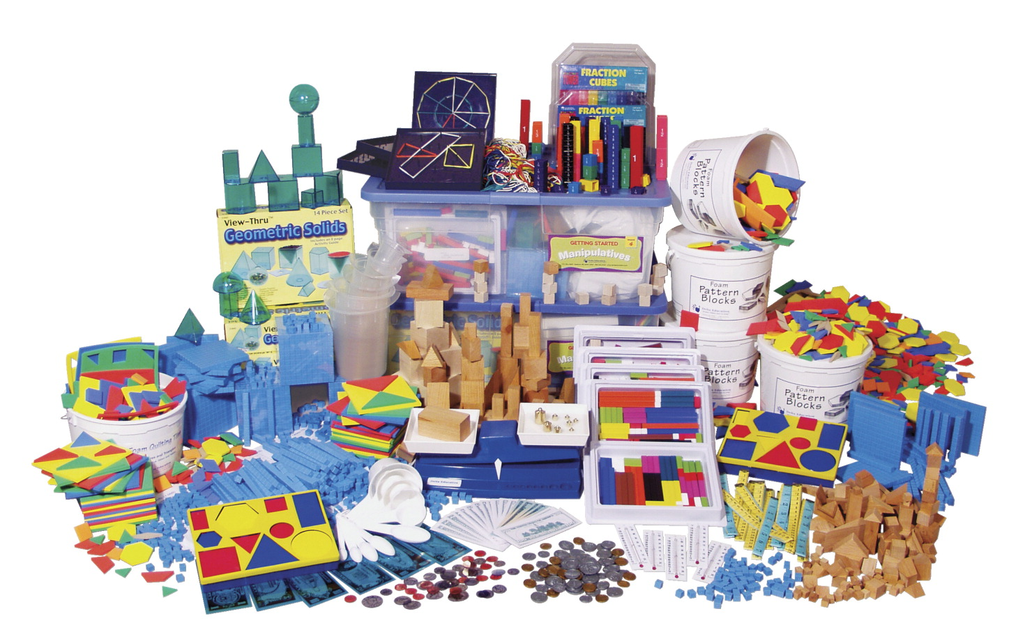 Delta Education Getting Started Math Manipulatives Kit, Grade 4