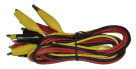Delta Education Alligator Clip Test Leads - 18 Gauge - 18 inch Insulated - Pack of 6