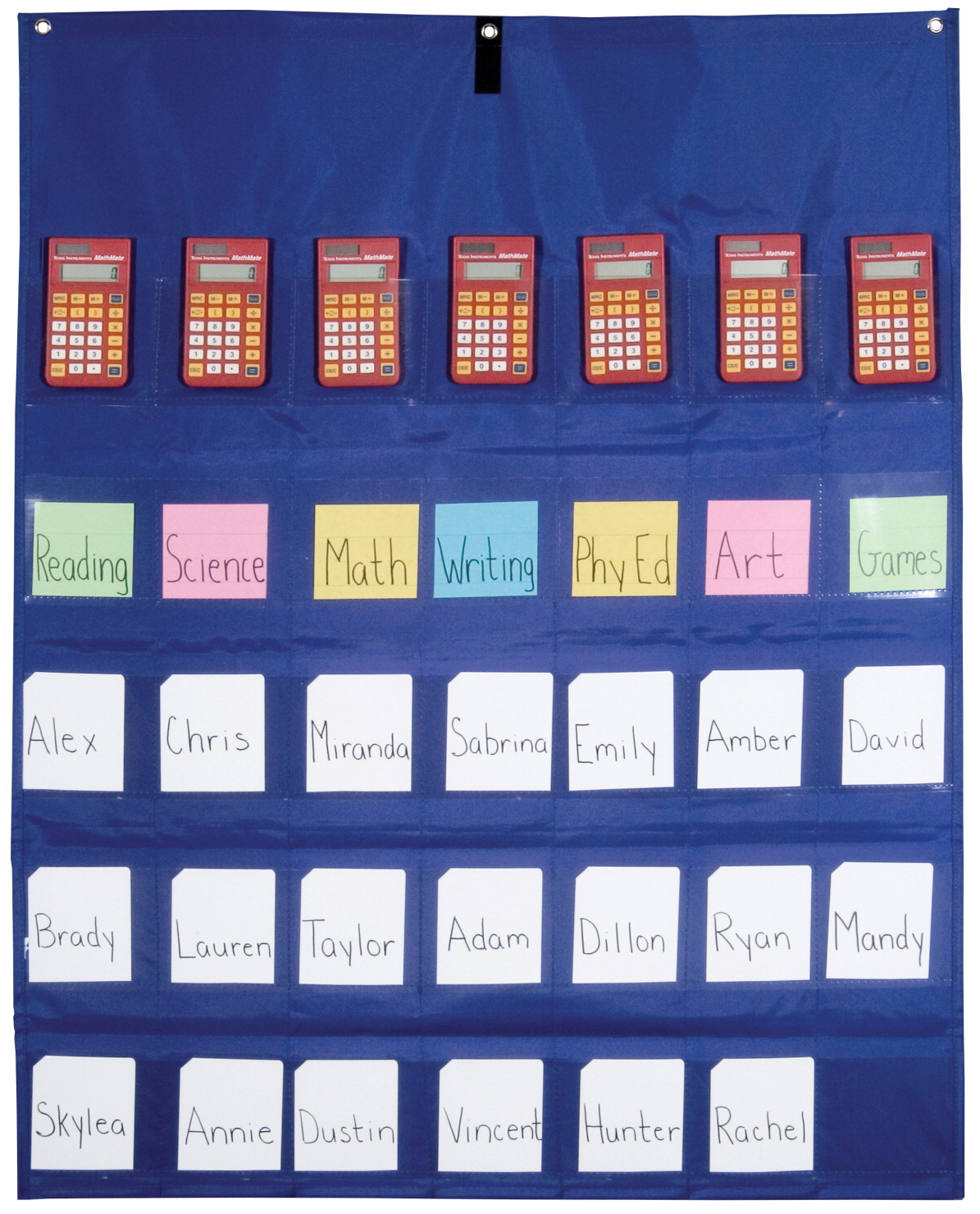 School Smart Calculator Multi Use Pocket Chart 35 Pockets 30 X 38 Inches Specialty Canada