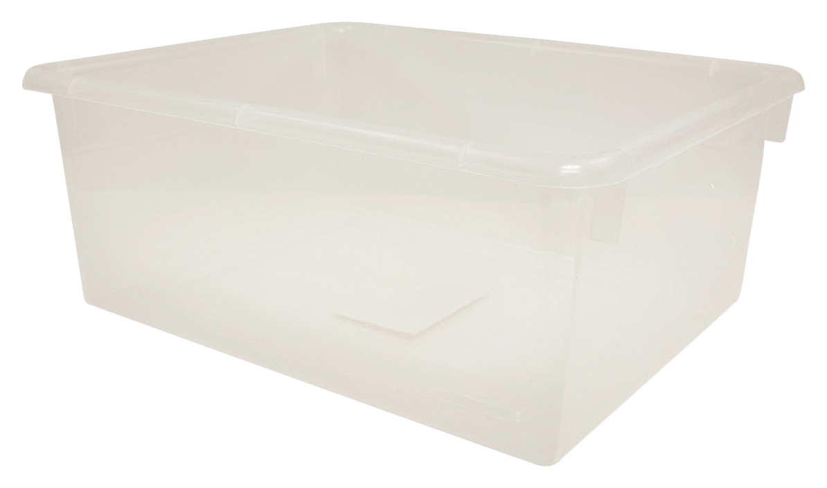School Smart Deep Storage Tray, Translucent
