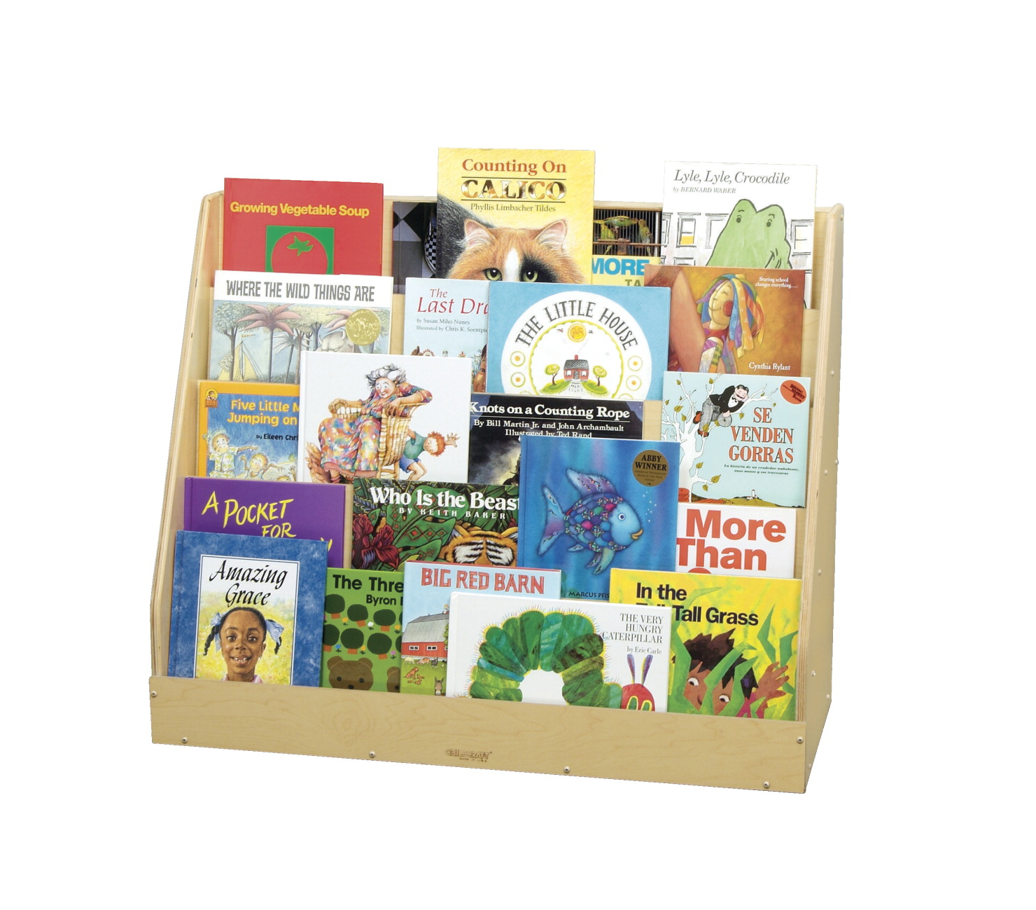 Childcraft Book Stand and Magnetic Dry-Erase Panel, 5 Shelves, 36 x 12 x 29 Inches